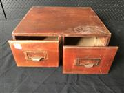 Sale 9022 - Lot 1044 - Timber Two Drawer Filer (H:18 x W:40 x D:39cm)