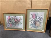 Sale 9050 - Lot 2059 - Pair of Ellis Rowan decorative prints of Australian Wildflowers 40 x 32cm (frames) -