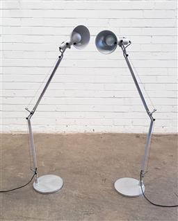 Sale 9151 - Lot 1060 - Pair of Artimedes desk lamps (h:123cvm)