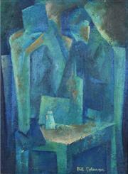 Sale 8394 - Lot 514 - Bill Coleman (1922 - 1993) - Two Figures Mulling 20 x 15cm