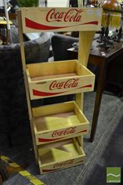 Sale 8472 - Lot 1058 - Tiered Coca~Cola Timber Stand