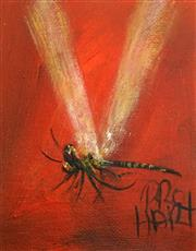 Sale 8484 - Lot 531 - Kevin Charles (Pro) Hart (1928 - 2006) - Dragonfly, c1980 12 x 9.5cm
