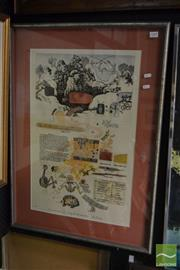 Sale 8503 - Lot 2048 - Leon Pericles - Welgie Mia Red Ochre, mixed media collage, signed lower right, (frame size 85 x 65cm)
