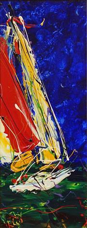 Sale 8652 - Lot 505 - Dean Vella (1958 - ) - Yachting 44.5 x 19cm