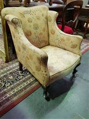 Sale 8657 - Lot 1054 - Floral Upholstered Fabric Armchair