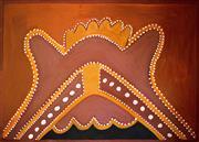 Sale 8810A - Lot 5023 - Hector Chundaloo (c1927 - 2006) - Kandooroon - Possum, 1997  99 x 140cm (framed and ready to hang)