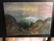 Sale 8819 - Lot 2153 - Knud P. - Ved Haret, Oil, Details Verso, 83.5x118cm -