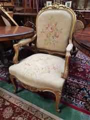 Sale 8831 - Lot 1048 - French Style Gilt Framed Armchair