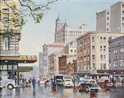 Sale 8939A - Lot 5010 - Douglas Pratt (1900 - 1972) - Sydney Street Scene 39.5 x 49.5 cm