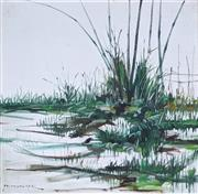 Sale 9055A - Lot 5010 - Paco Gorospe (1939 - 2002) - Wetlands 61 x 61 cm (frame: 69 x 69 cm)