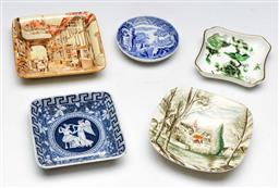 Sale 9153 - Lot 82 - A group of five ceramic pin dishes to include Spode & Coalport