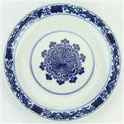 Sale 8372 - Lot 6 - Bianfu Blue & White Plate