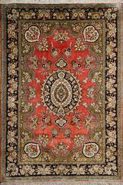 Sale 8380C - Lot 7 - Persian Fin Qum Silk 150cm x 100cm