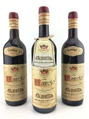 Sale 8553W - Lot 59 - 3x 1967 Capetta Francesco, Barolo - high shoulder