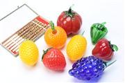 Sale 8670 - Lot 66 - Collection Glass Fruit & Boxed Chopsticks