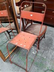 Sale 8723 - Lot 1098 - Pair of Machinist Chairs
