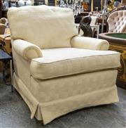 Sale 8746 - Lot 1077 - A Cintique Cream Fabric Armchair, with weave pattern