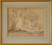 Sale 8810A - Lot 5012 - Hans Heysen (1877 - 1968) - Gumeracha, c1908  30.5 x 39.5cm