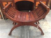 Sale 8822 - Lot 1724 - Timber Savonarola Stool