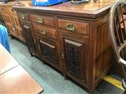 Sale 8868 - Lot 1541 - Carved Timber Sideboard with Four Drawers & Three Doors