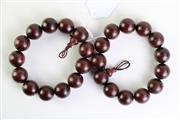 Sale 8894 - Lot 379 - Timber beaded Bracelets (2)