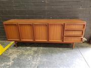 Sale 8984 - Lot 1002 - Chiswell Sideboard with 4 Panel Doors and 3 Drawers (H:78 x W:205 x D:47cm)
