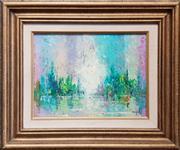 Sale 9028 - Lot 2067 - Artist Unknown - Blue & Green Abstract, oil on board, SLR