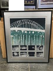 Sale 9041 - Lot 2059 - Louise Fowler-Smith, Sydney Harbour Bridge, 21,982,026, 1982, limited edition print, 89 x 76cm, signed lower right