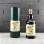 Sale 9062W - Lot 675 - Glernfarclas 21YO Highland Single Malt Scotch Whisky - 43% ABV, 1000ml in canister