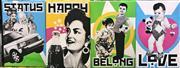 Sale 9072 - Lot 2036 - Set of (4) Socialist Giclee Prints on Canvas 76.5 x 51cm