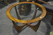 Sale 8287 - Lot 1047 - G Plan Atmos Coffee Table with Glass Top