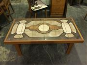 Sale 8643 - Lot 1060 - Danish Teak Coffee Table with Tiled Top, signed