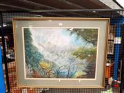 Sale 8663 - Lot 2142 - Joy Glover - Landscape, Mixed Media, SLL, 49.5x69cm