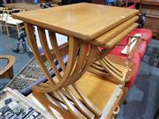 Sale 8723 - Lot 1027 - Nathan Teak Nest of Tables