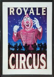 Sale 8752 - Lot 2077 - Original Circus Royale Poster, framed -