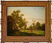 Sale 8810A - Lot 5013 - Pieter van Os (1776 - 1839) - Landschaft - Wildpark, 1828  69 x 87.5cm