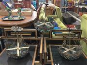 Sale 8822 - Lot 1793 - Pair of Brass Basket Form Chandeliers & Slightly Larger Example - 202