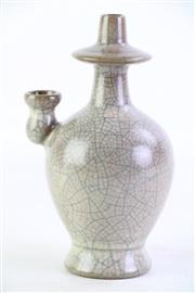 Sale 8852 - Lot 97 - A Crackle Glaze Chinese Vessel (H 20cm)