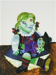 Sale 8938A - Lot 5090 - After Pablo Picasso (1881 - 1973) - Maya with Doll 51.5 x 43.5 cm (frame: 92 x 84 x5 cm)