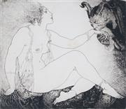 Sale 8916 - Lot 526 - Norman Lindsay (1879 - 1969) - Bargains, 1922 11.5 x 12 cm