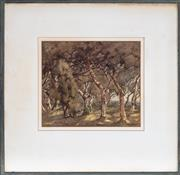 Sale 9058H - Lot 22 - M F Mcnally - Figure amidst The Trees SLL