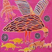 Sale 8288A - Lot 68 - Iluwanti Ken (1944 - ) - Eagle Tjukurpa 101.5 x 101.5cm (framed & ready to hang)