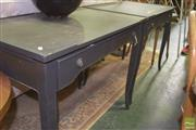 Sale 8390 - Lot 1124 - Pair of Timber Hall Tables with Single Drawer & Slide to Side