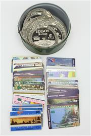 Sale 8405 - Lot 75 - Edison Record Labels with Phone Cards