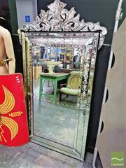 Sale 8424 - Lot 1011 - Venetian Style Mirror (180 x 103cm)