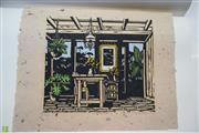 Sale 8578T - Lot 2023 - David Preston (1948 - ) - Interior with Table, 1982 34 x 44.5cm (sheet size)
