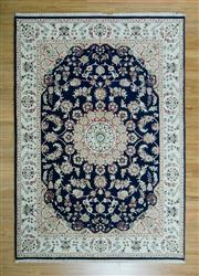 Sale 8657C - Lot 2 - Persian Indo Nain Silk Inlay 171cm x 245cm -