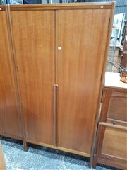 Sale 8741 - Lot 1096 - Quality Younger Teak Wardrobe