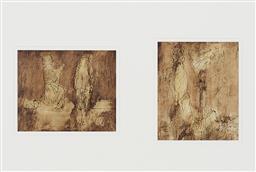 Sale 9195 - Lot 524 - SIDNEY NOLAN (1917 - 1992) (2 works) - Classical Figure Studies 23.5 x 28 cm; 28.5 x 23.5 cm (frame: 86 x 103 x 4 cm)