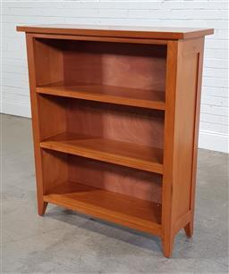 Sale 9191 - Lot 1094 - Open timber bookcase (h128 x w110 x d37cm)